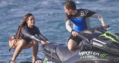 Rihanna Jet Skiing in Hawaii