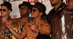 Bruno Mars and his band