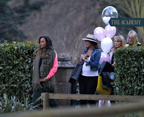 Rochelle Humes attends her baby shower
