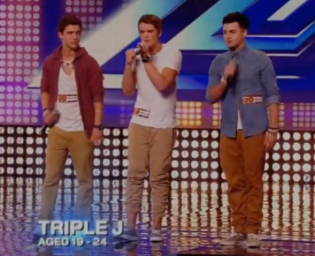 Union J at their first X Factor audition