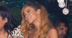 Rihanna attends her after party