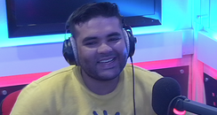 Naughty Boy in the Capital studios