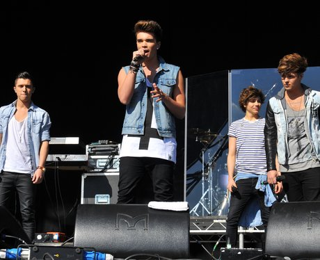 Union J on stage in Victoria Park