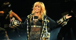Rihanna performs on her Diamonds tour