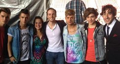 Union J backstage at North East Live 2013