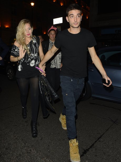 Tom Parker seen with his girlfriend Kelsey Hardwic