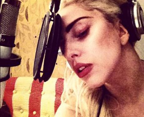 Lady Gaga in the studio