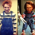 Ed Sheeran dressed as Chucky from Child's Play