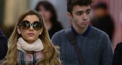 Ariana Grande and Nathan Sykes at the airport