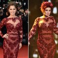Cheryl Cole and Sharon Osbourne same dress