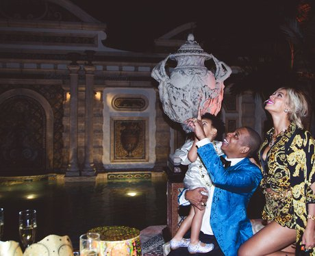 Beyonce and Jay Z at Blue Ivy's birthday party