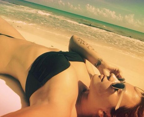 Demi Lovato wearing a bikini