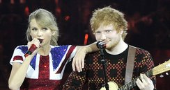 Taylor Swift and Ed Sheeran on tour live