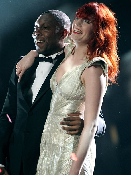 Florence Welch and Dizzee Rascal at the BRIT Awards 2010