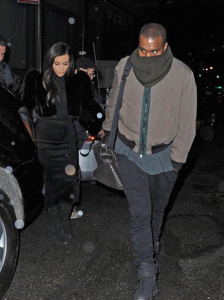 Kanye West and Kim Kardashian in New York