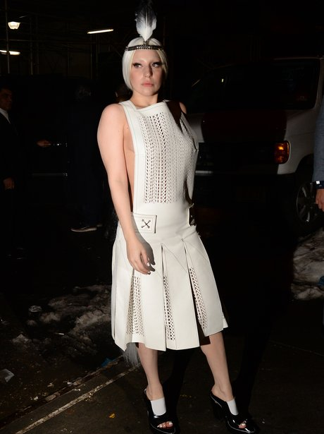 Lady Gaga wears a 1920s dress in new york