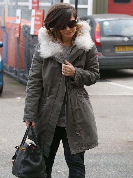Frankie Sandford seen arriving at a Dance Studio