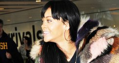 Rihanna at Heathrow airport