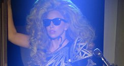 Lady Gaga performs on stage at Roseland Ballroom
