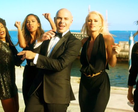 Pitbull, G.R.L. in 'Wild Wild Love' music video