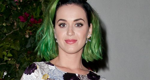 Katy Perry with green hair