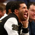 Drake laughing at Basketball
