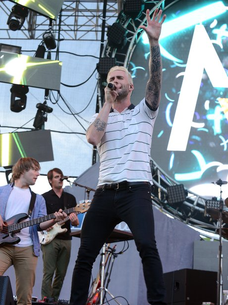 Adam Levine with blonde hair