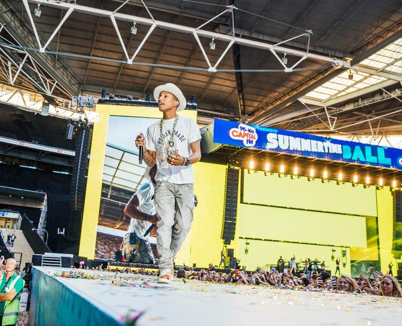Pharrell Williams at the Summertime Ball