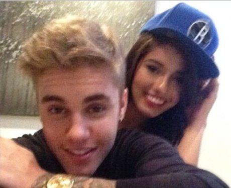 Justin Bieber pictured with model  Yovanna Ventura