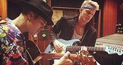 Justin Bieber Cody Simpson Recording Studio Instag