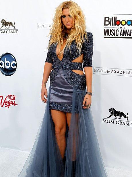 Kesha in cut out dress