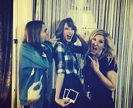Cara Delevingne, Ellie Goulding and Taylor Swift