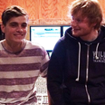 Ed Sheeran and Martin Garrix in the studio