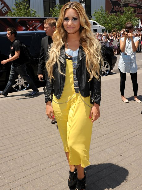 Demi Lovato Yellow Dress X Factor