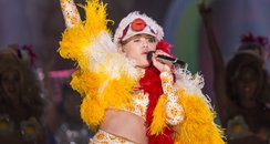 Miley Cyrus performs in Brazil