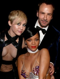 Miley Cyrus, Rihanna and Tom Ford