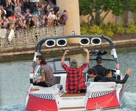 One Direction on a boat