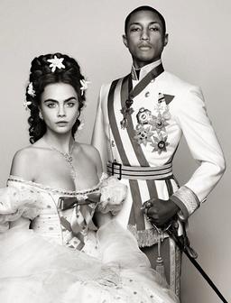 Cara Delevingne and Pharrell Chanel Shoot