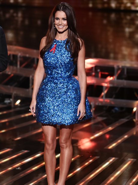 Cheryl x factor blue dress celebrity