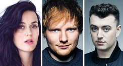 Katy Perry, Ed Sheeran, Sam Smith
