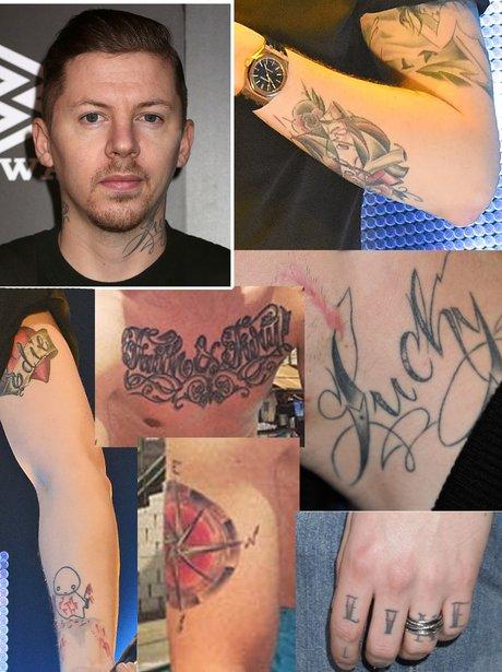 Preofessor Green tattoos