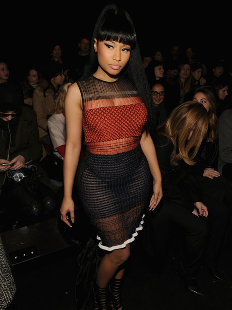 Nicki Minaj Looks Unreal In A Sheer Two Piece For Alexander Wang 39 S Fashion Show Capital