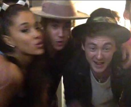 Ariana Grande, Jacke Roche and Justin Bieber