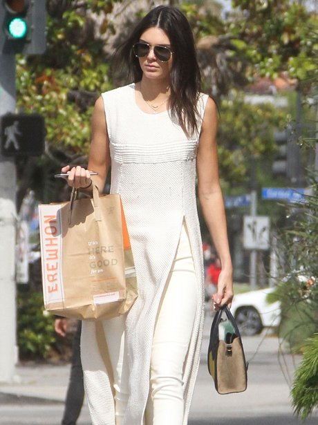 Kendall Jenner White Outfit
