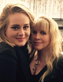 Adele and Stevie Nicks at a Fleetwood Mac concert