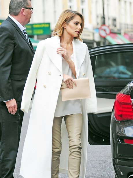Cheryl leaving a business meeting in London