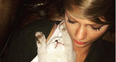 Taykir Swift and her cat