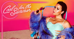 """Demi Lovato in her """"Cool For The Summer"""" cover art"""