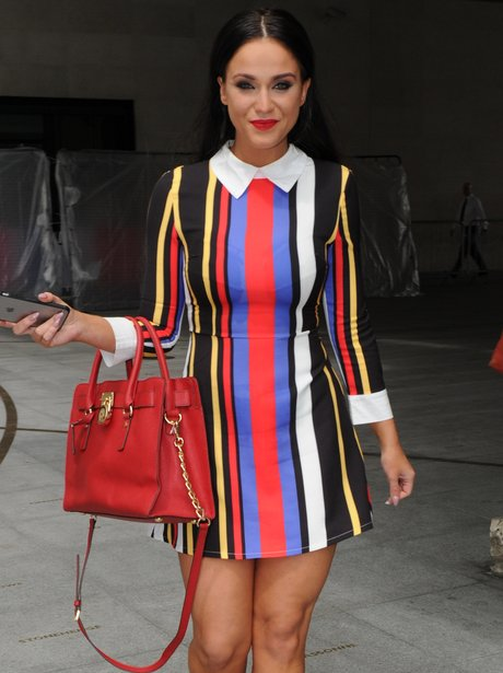 Vicky Pattison in colourful dress