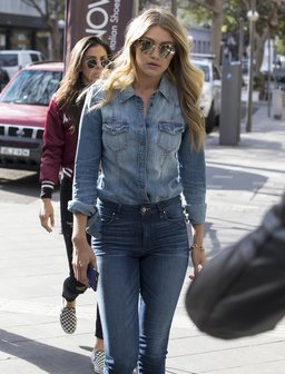 Gigi Hadid Double Denim